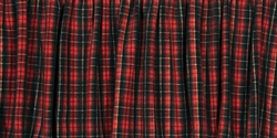 Wooded River Plaid I Bed Skirt