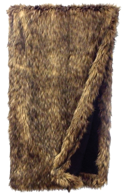 Coyote Faux Fur Throw - 54