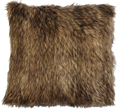Coyote Fur Accent Pillow - 18