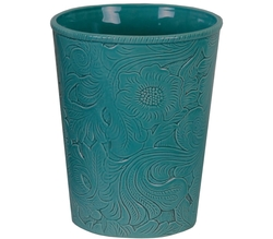 Savannah Waste Basket - Turquoise