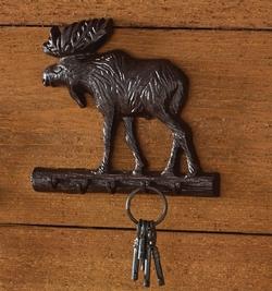 Cast Moose Key Hook
