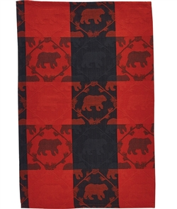 Tartan Bear Jacquard Dish or Hand Towel-Set of 2