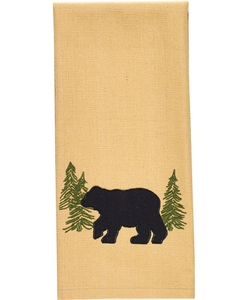 Black Bear Appliqué Dish or Hand Towel