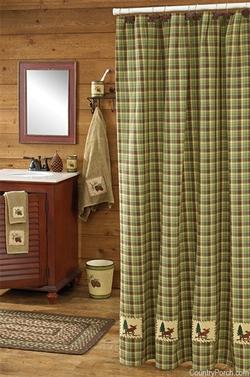 juniper moose shower curtain