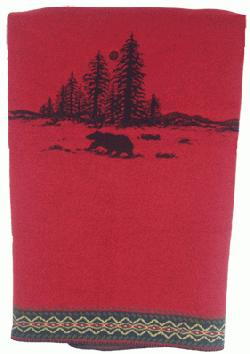 Wooded River Bear Throw