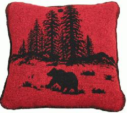 Wooded River Bear Accent Pillow