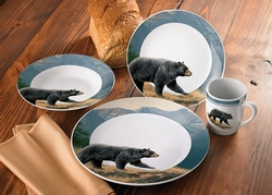 Ridgeline Bear Dinnerware - 16 Piece Set