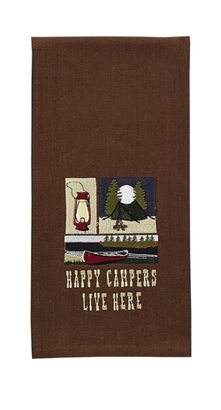 Happy Campers Live Here Dish Towel