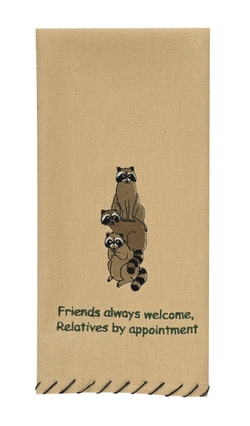 Friends Always Welcome Dish Towel