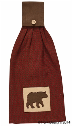 Houndstooth Bear Hand Towel