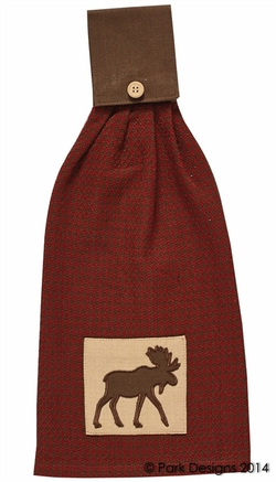 Houndstooth Moose Hand Towel