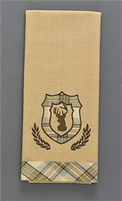 Deer Croft Crest Dishtowel