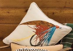 Fishing Lure Embroidered Pillow - 20