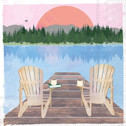 Sunday at the Lake - Chairs - Beverage/Cocktail Napkins