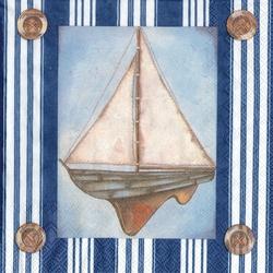 Marina Sail Boat Cocktail/Beverage Napkin