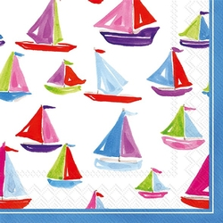 Sail Boat Cocktail/Beverage Napkins