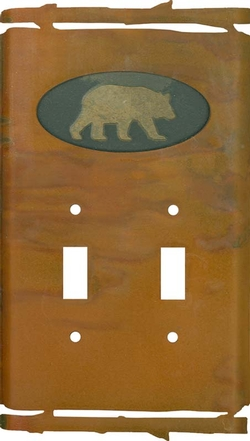 Rustic Bear Switchplate