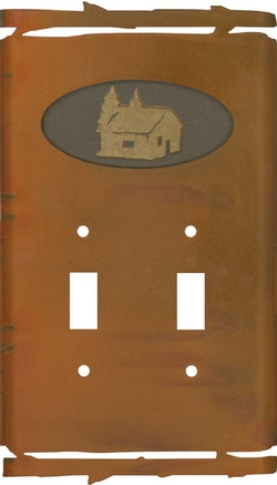 Rustic Cabin Switchplate