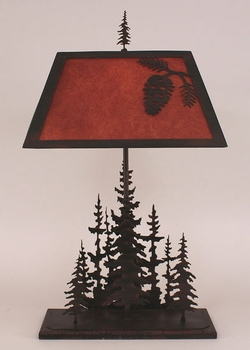 Pine Tree Lamp with Pinecone Shade