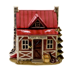 Lake Lodge Cookie Jar