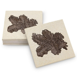 Pinecone and Pine Needle Coaster Set