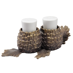 Lodge Collection Pinecone Salt & Pepper