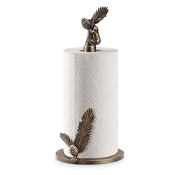 Bear & Pine Paper Towel Holder