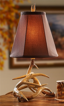 Antler Lamp with Shade - 23