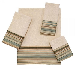 Maxfield Strip Bath and Hand Towel - Ivory