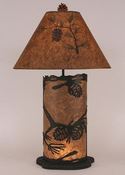 Pinecone Scene Table Lamp with Night Light