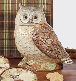 Rustic Nature 3-D Owl Cookie Jar