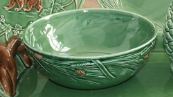 Pinecone Ceramic Serving Bowl