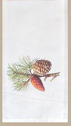 Pinecone Flower Sack Towel