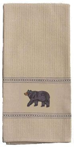 Bear Embroidered Towel