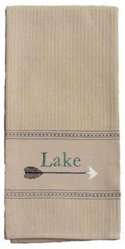 Lake Embroidered Towel