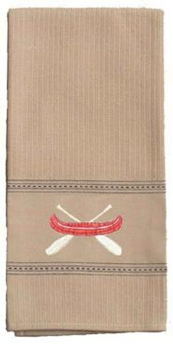 Red Canoe Embroidered Kitchen Towel