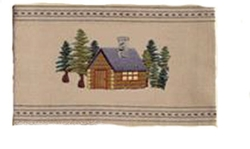 Cabin Embroidered Towel