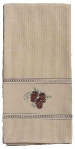 Pinecone Embroidered Hand Towel