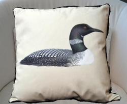 Loon Printed Pillow - 18