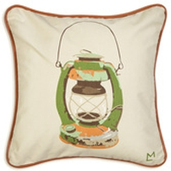 Rusty Lantern Canvas Pillow