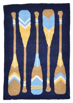 Channel Harbor Hooked Rug - 2' x 3'