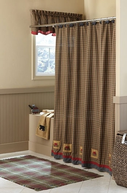 Cabin Patch Shower Curtain - 72