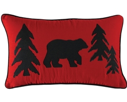 Black  Bear Retreat - Bear & Tree Pillow