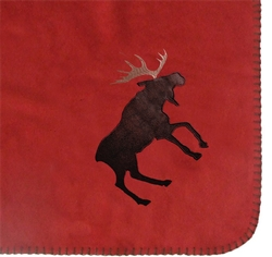 Red Moose Throw