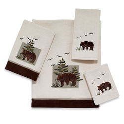 Denali  Bear Patch Hand and Bath Towel