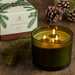 Thymes Frasier Fir Poured Candle 17 oz. - 3 Wick