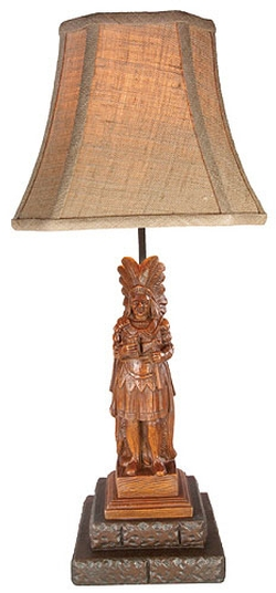 Cigar Store Indian Table Lamp