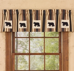 Canyon Bear Lined Valance - 60