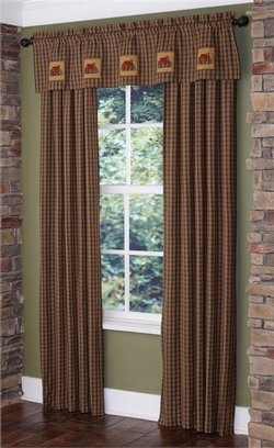 Cabin Patch Lined Panel Curtains - Pair
