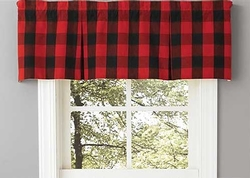 Buffalo Check Lined Pleated Valance